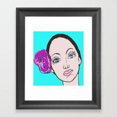 Ballet Dancer in blue (series) Framed Art Print