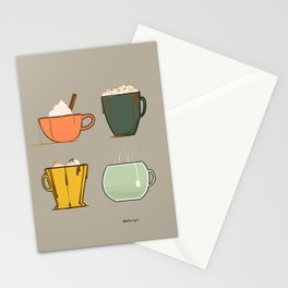 Fall Drinks Stationery Cards