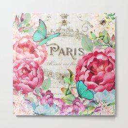 Paris Flower Market II Metal Print