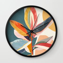 Colorful Branching Out 01 Wall Clock
