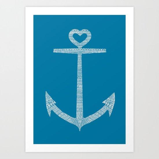 Love is the anchor Art Print