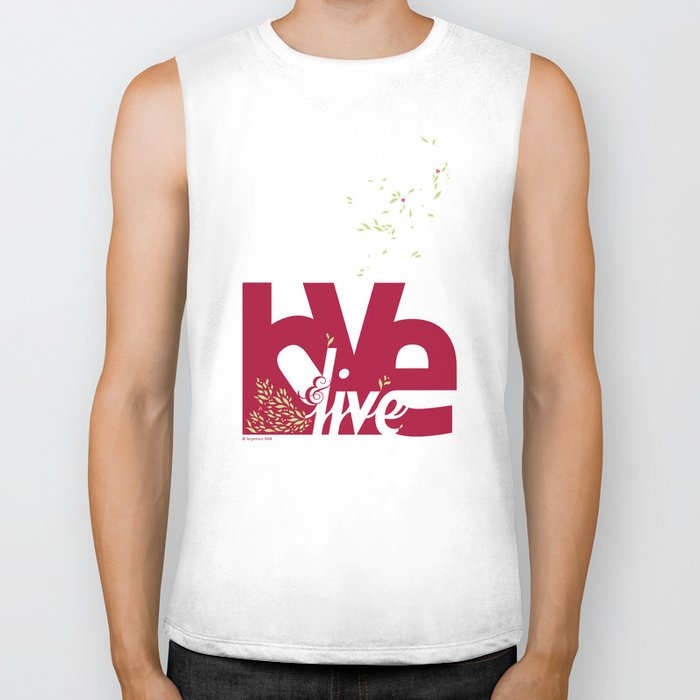 Love & Live (leaves 1) Biker Tank