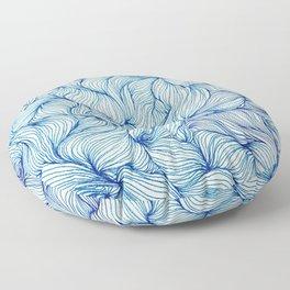 Tangled in Blue Floor Pillow