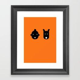tintin & milu Framed Art Print