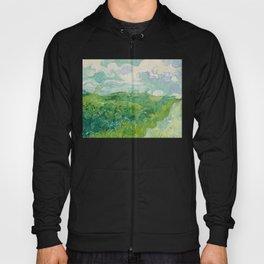 Green Wheat Fields, Auvers, 1890, Vincent van Gogh Hoody