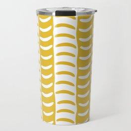 Wavy Stripes Mustard Yellow Travel Mug