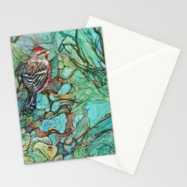 The Aquamarine Labyrinth (detail no. 3) Stationery Cards