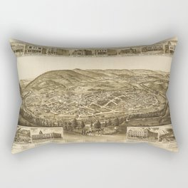 Aerial View of Harriman, Tennessee (1892) Rectangular Pillow