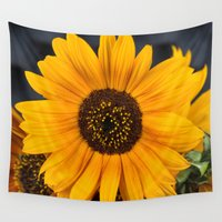 moriarty Wall Tapestries featuring Sunflower by Michael P. Moriarty