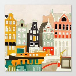 Amsterdam travel city shapes abstract Canvas Print