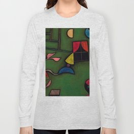 "Paul Klee ""Pflanze und Fenster Stilleben (Still life with Plant and Window)"" Long Sleeve T-shirt"