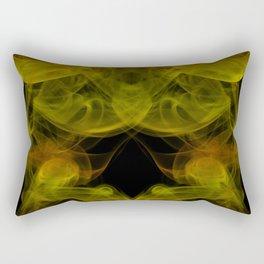 Demon head in smoke pattern Rectangular Pillow