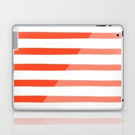 Beach Stripes Red Pink Laptop & iPad Skin