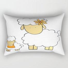 The Sheep Familly Rectangular Pillow