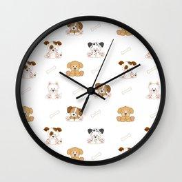 Puppy Dog Baby Nursery Wall Art Wall Clock