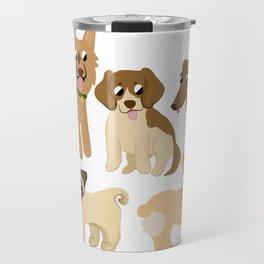Multiple Dog Breeds Travel Mug