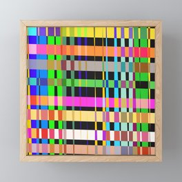 inclined coloured stripes Framed Mini Art Print