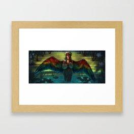 The Bird Bath Framed Art Print