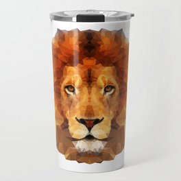 Geometric Lion Travel Mug