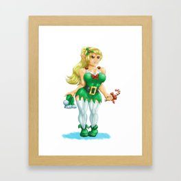 Cute elf Framed Art Print