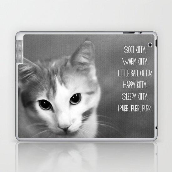 Soft Kitty Laptop & iPad Skin