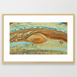 Eye of Jupiter in watercolor Framed Art Print