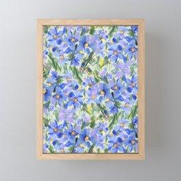 Blue Poppy Field Framed Mini Art Print