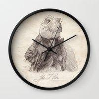 bouletcorp Wall Clocks featuring John T. Rex by Bouletcorp