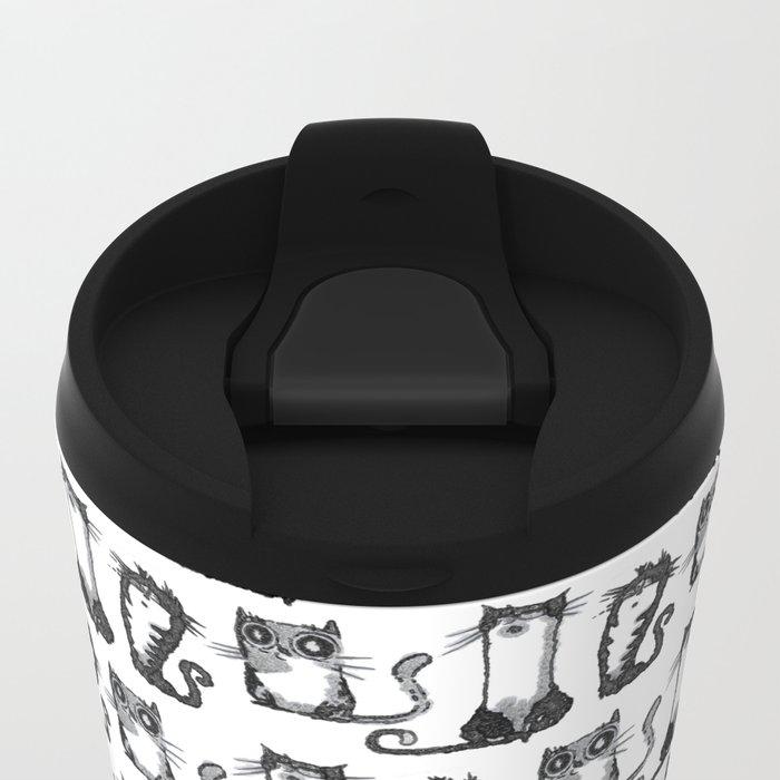 Black cats Metal Travel Mug
