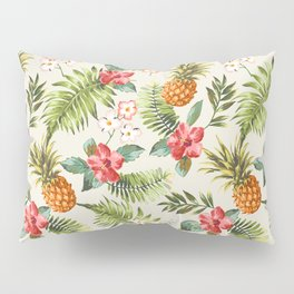 pineapple with tropical flower Pillow Sham
