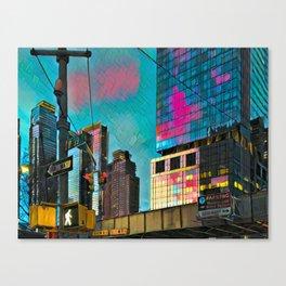 NYC Skyline at Sunset Canvas Print