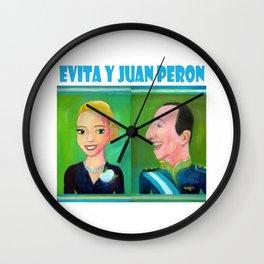 Evita y Juan Peron por Diego Manuel. Wall Clock