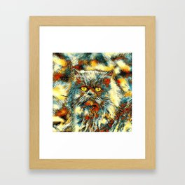AnimalArt_Cat_20170913_by_JAMColorsSpecial Framed Art Print