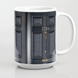 Haunted black door with 221b number Coffee Mug
