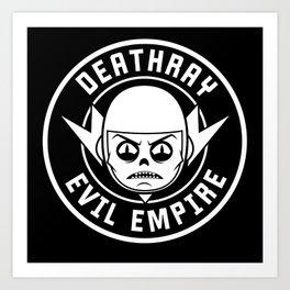 DeathRay Evil Empire Logo Art Print