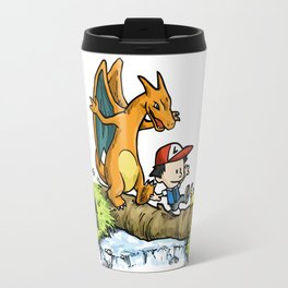 Calvin & Chrizard Travel Mug