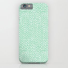 Hand Knit Mint iPhone Case
