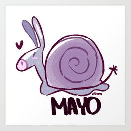Mayo the Smail Art Print