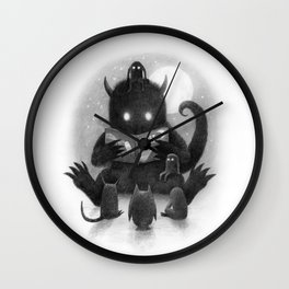 Story Time (black and white option) Wall Clock