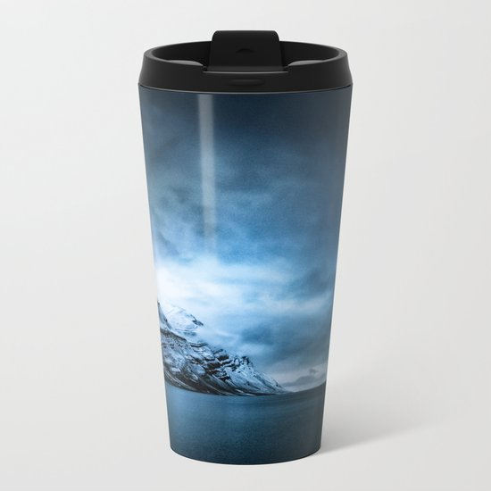 The Arctic - Storm Over Still Water Metal Travel Mug
