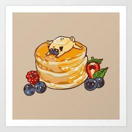 Pug Pancake Art Print