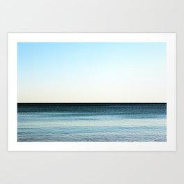 Clean beautiful seascape. Ocean horizon. Nautical background Art Print