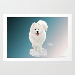 Tybor in Snow Art Print