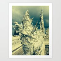 thailand Art Prints featuring Thailand by very giorgious