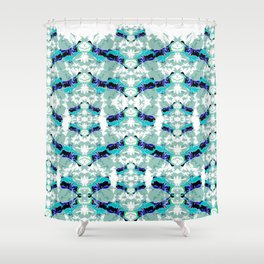 Hippopotamus Blue Shower Curtain
