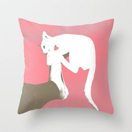 Cattack Throw Pillow