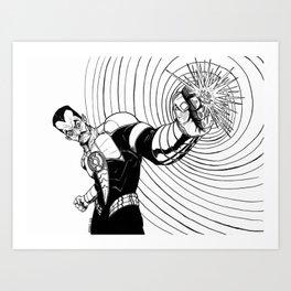 Sinestro B&W Art Print