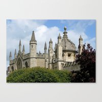 spires Canvas Prints featuring Oxford Spires by Ann Horn