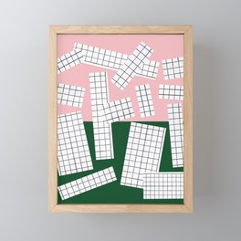 Abstraction_Minimal_Collage Framed Mini Art Print