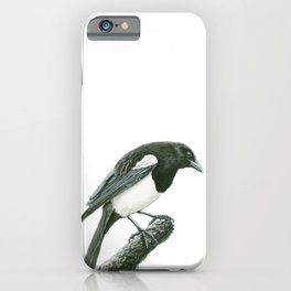 Magpie ink painting iPhone Case